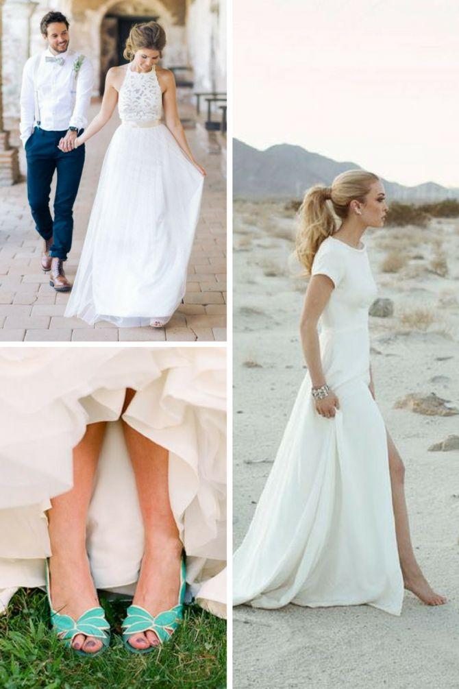 Sapato de noiva ideal para diferentes locais