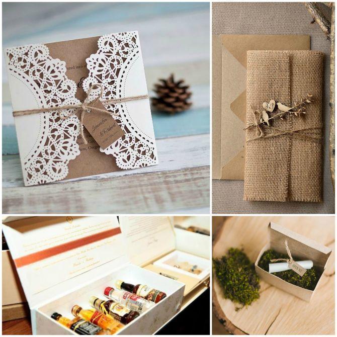 Convites de casamento diferentes e artesanais