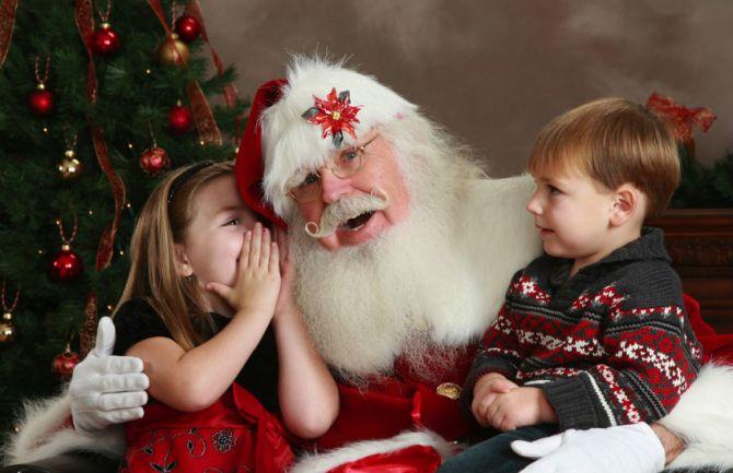 Natal para crianças com Papai Noel