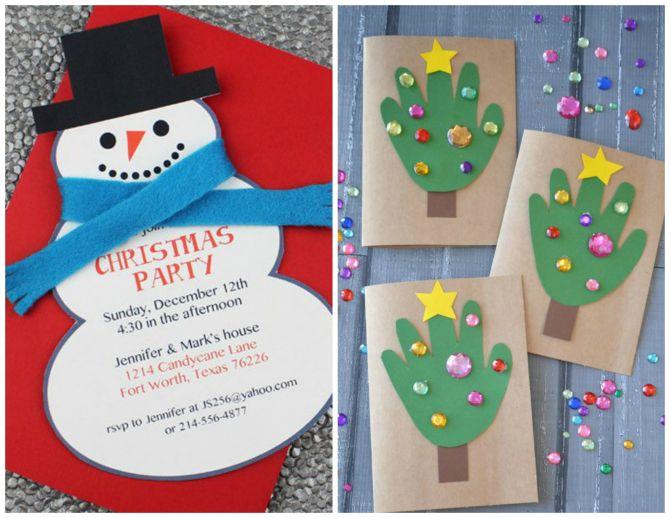 Convite de festa de Natal para crianças