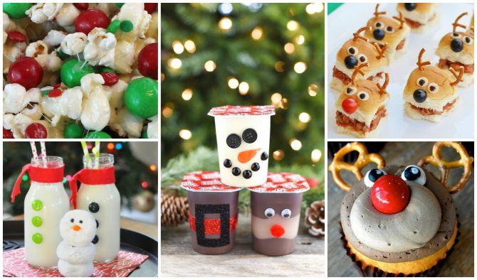 Comidas e bebidas divertidas para o natal