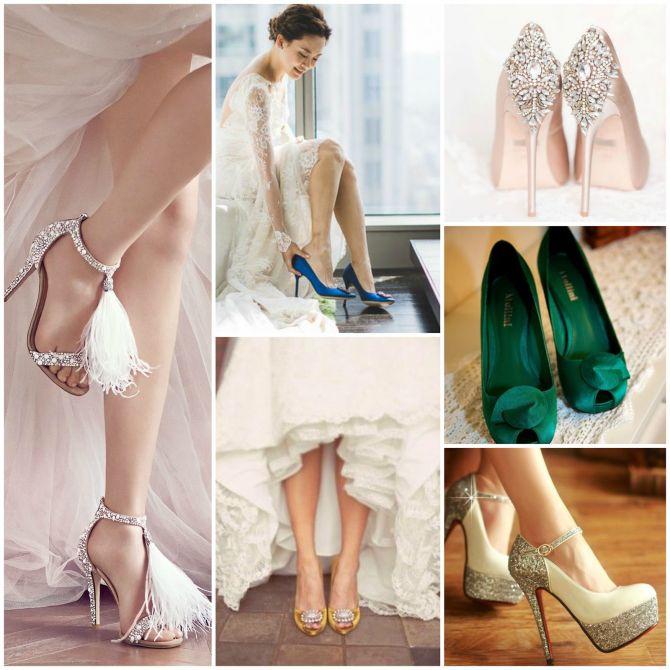 Sapatos de noiva em destaque na produção de casamento