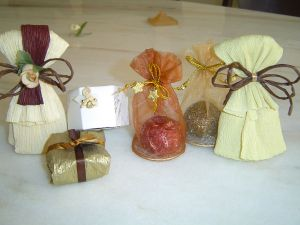 Conjunto de embalagens de truf
