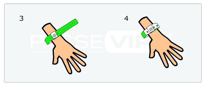 pulseiras de identificação de lacre plástico