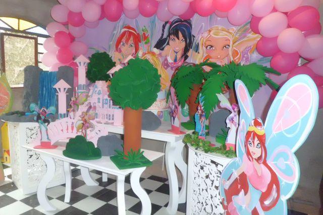 Decoração Winx ~ Mesa Provençal clean para festa infantil em S u00e3o Paulo SP Organizando Eventos